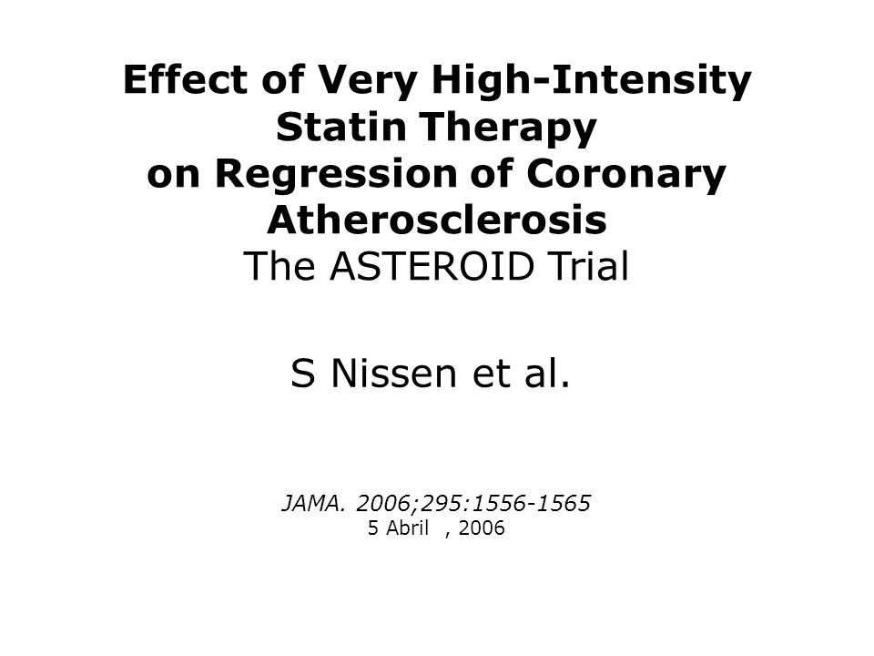 Effect of Very High-Intensity Statin Therapy