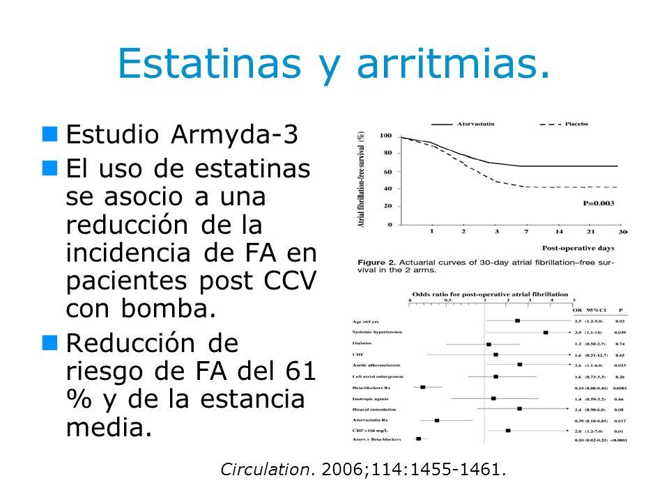 Estatinas y arritmias. Estudio Armyda-3