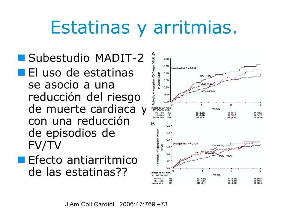 Estatinas y arritmias. Subestudio MADIT-2