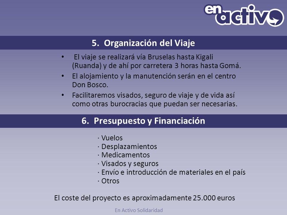 5. Organización del Viaje