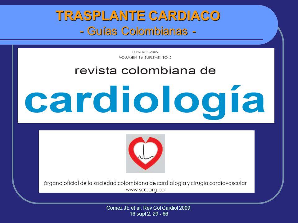 TRASPLANTE CARDIACO - Guías Colombianas -