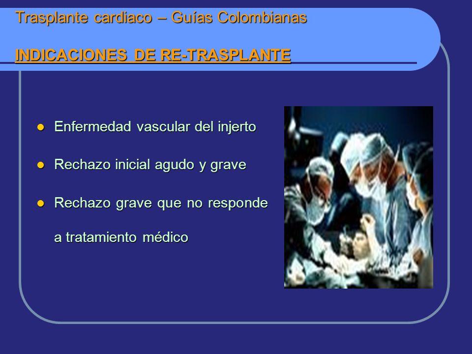 Trasplante cardiaco – Guías Colombianas INDICACIONES DE RE-TRASPLANTE