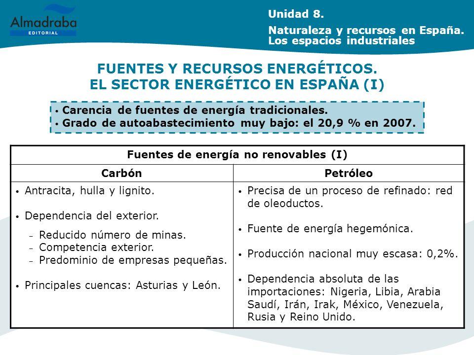 FUENTES Y RECURSOS ENERGÉTICOS. EL SECTOR ENERGÉTICO EN ESPAÑA (I)