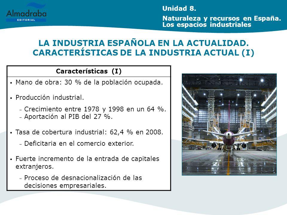 Unidad 8. Naturaleza y recursos en España. Los espacios industriales.