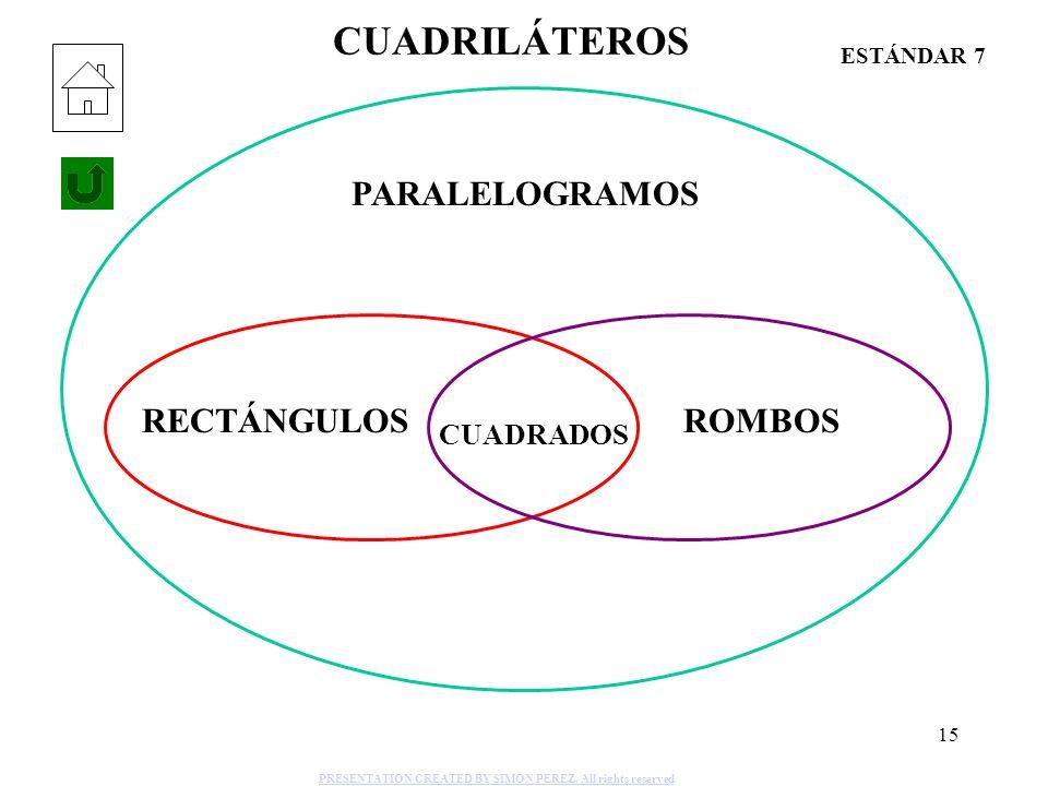 CUADRILÁTEROS PARALELOGRAMOS RECTÁNGULOS ROMBOS CUADRADOS ESTÁNDAR 7