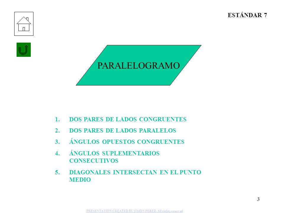PARALELOGRAMO ESTÁNDAR 7 DOS PARES DE LADOS CONGRUENTES
