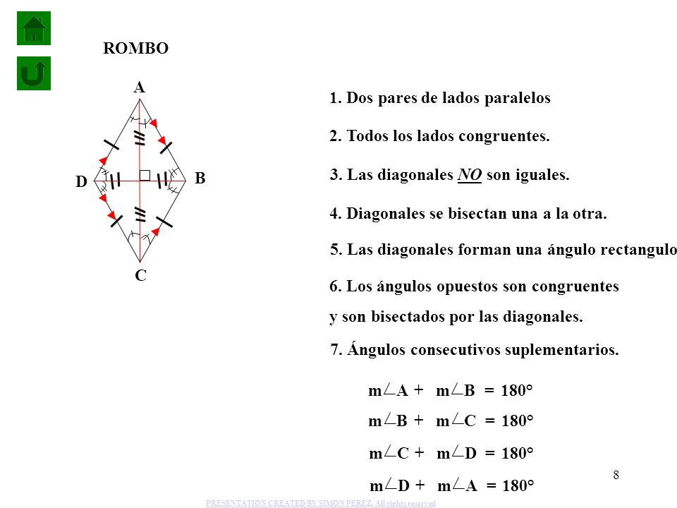 1. Dos pares de lados paralelos