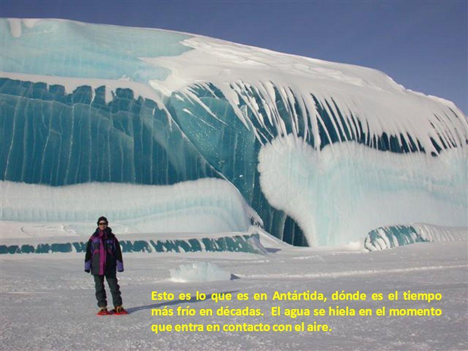 Esto es lo que es en Antártida, dónde es el tiempo más frío en décadas