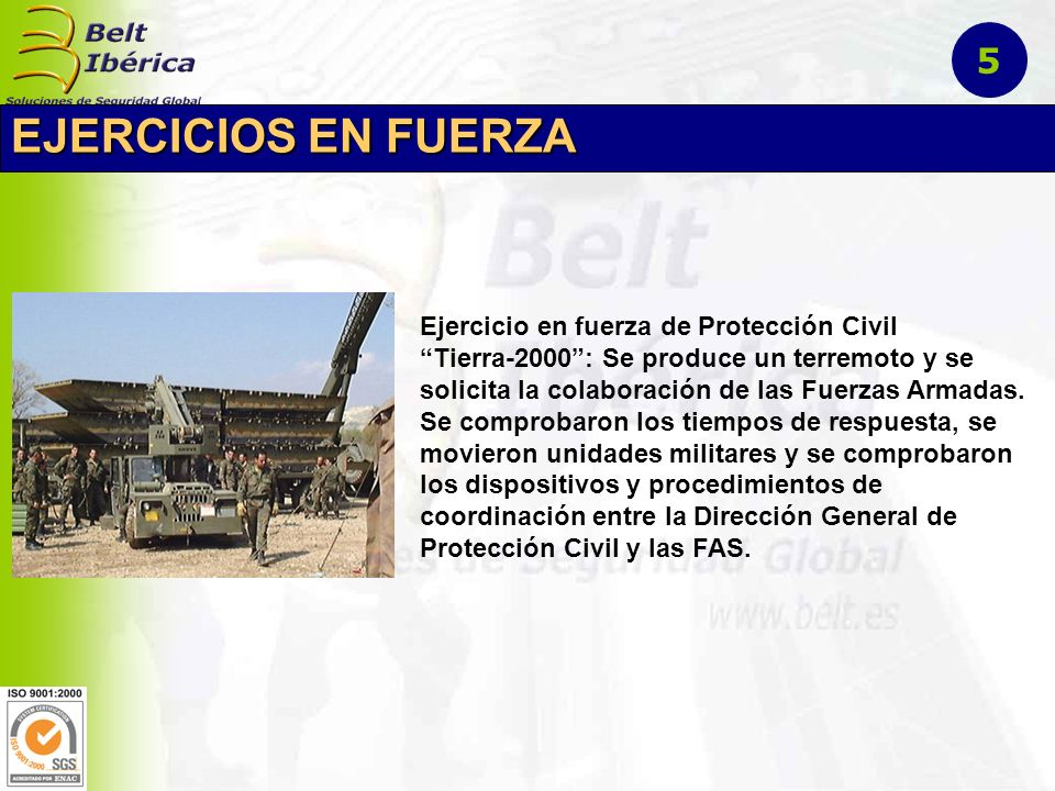 EJERCICIOS EN FUERZA 5 Ejercicio en fuerza de Protección Civil