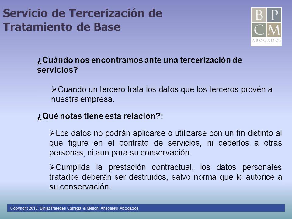 Servicio de Tercerización de Tratamiento de Base