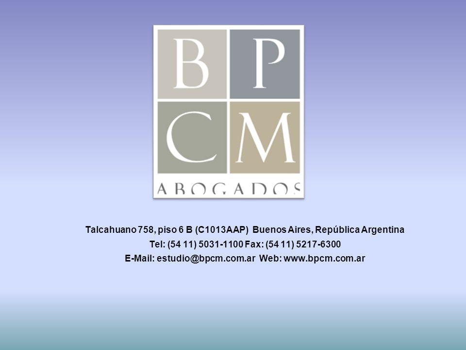 Talcahuano 758, piso 6 B (C1013AAP) Buenos Aires, República Argentina