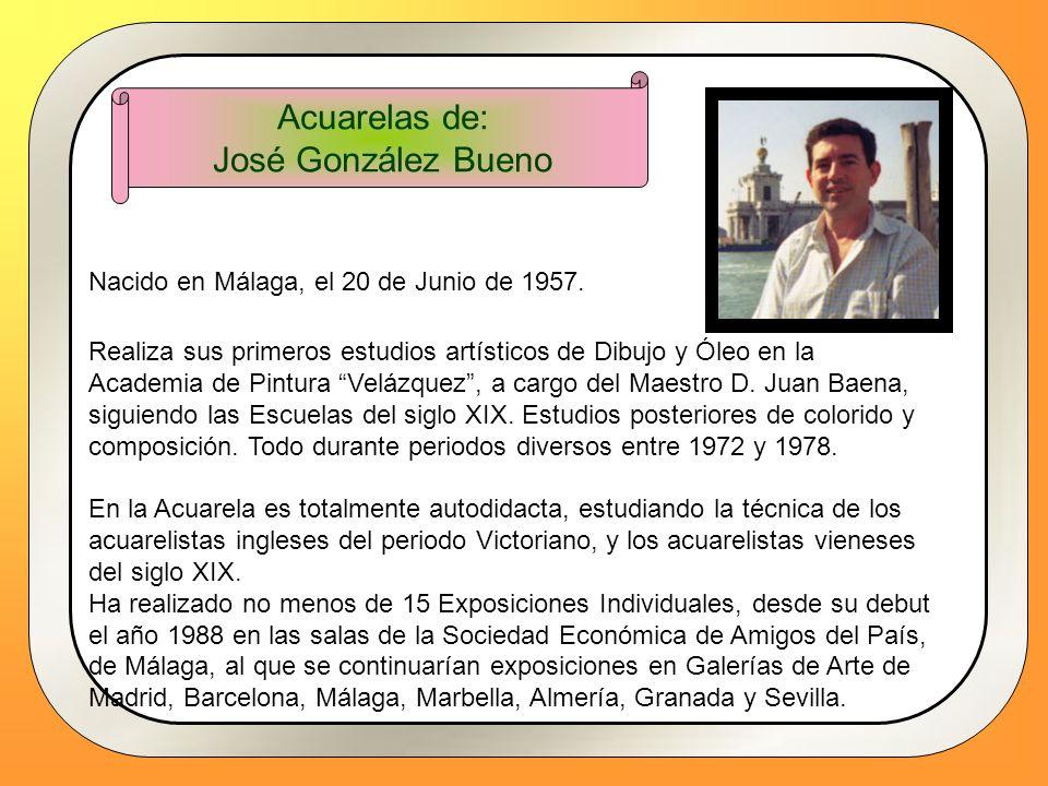 Acuarelas de: José González Bueno