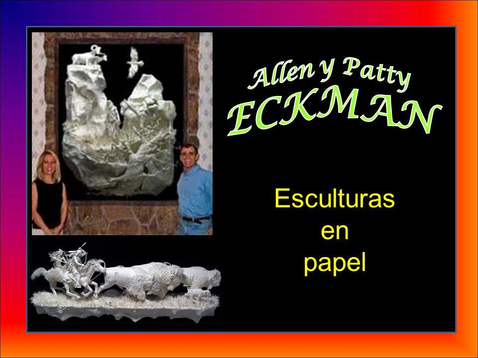 Allen y Patty ECKMAN Esculturas en papel