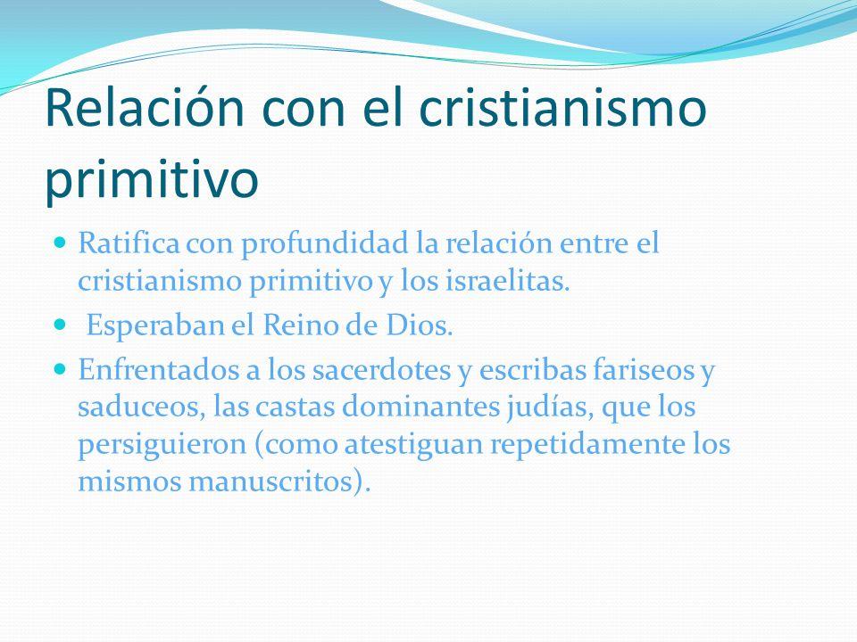Relación con el cristianismo primitivo