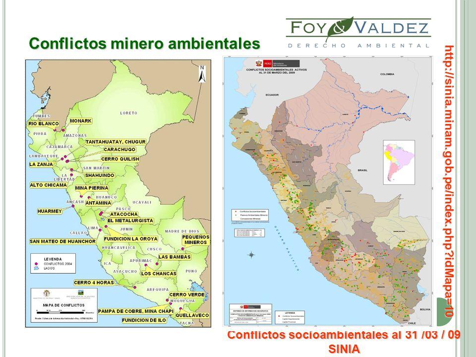 Conflictos minero ambientales