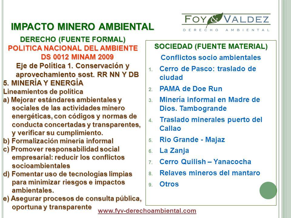 IMPACTO MINERO AMBIENTAL