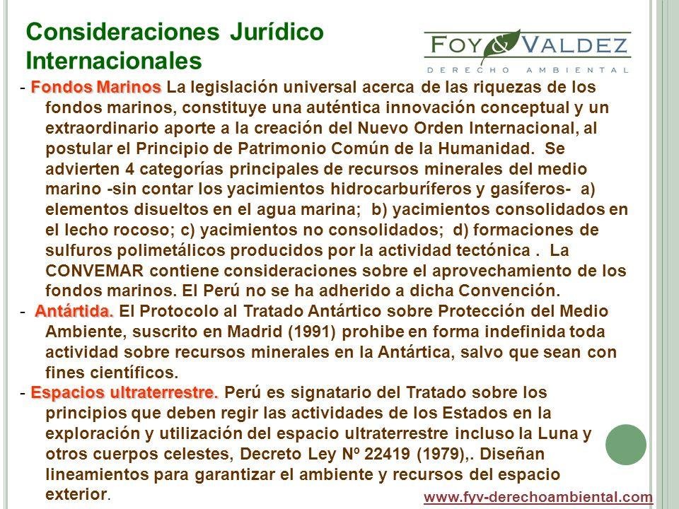 Consideraciones Jurídico Internacionales