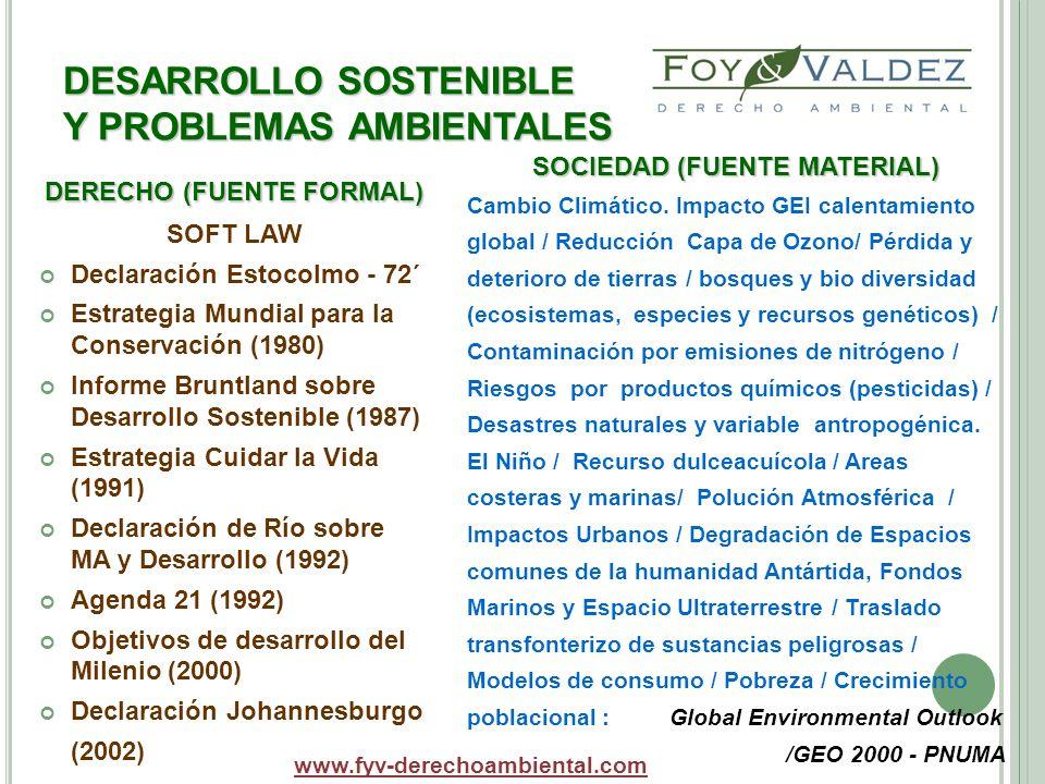 DESARROLLO SOSTENIBLE Y PROBLEMAS AMBIENTALES