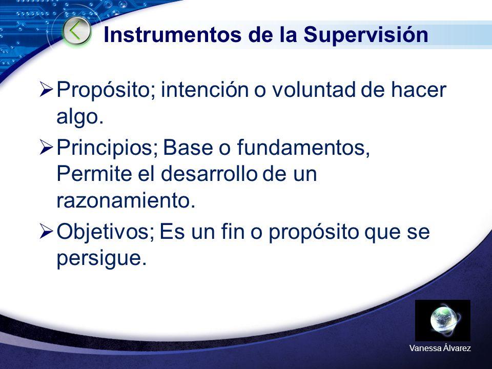 Instrumentos de la Supervisión