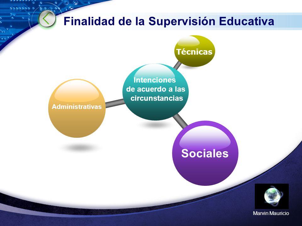 Finalidad de la Supervisión Educativa