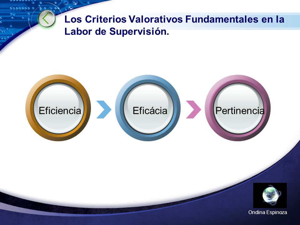 Los Criterios Valorativos Fundamentales en la Labor de Supervisión.