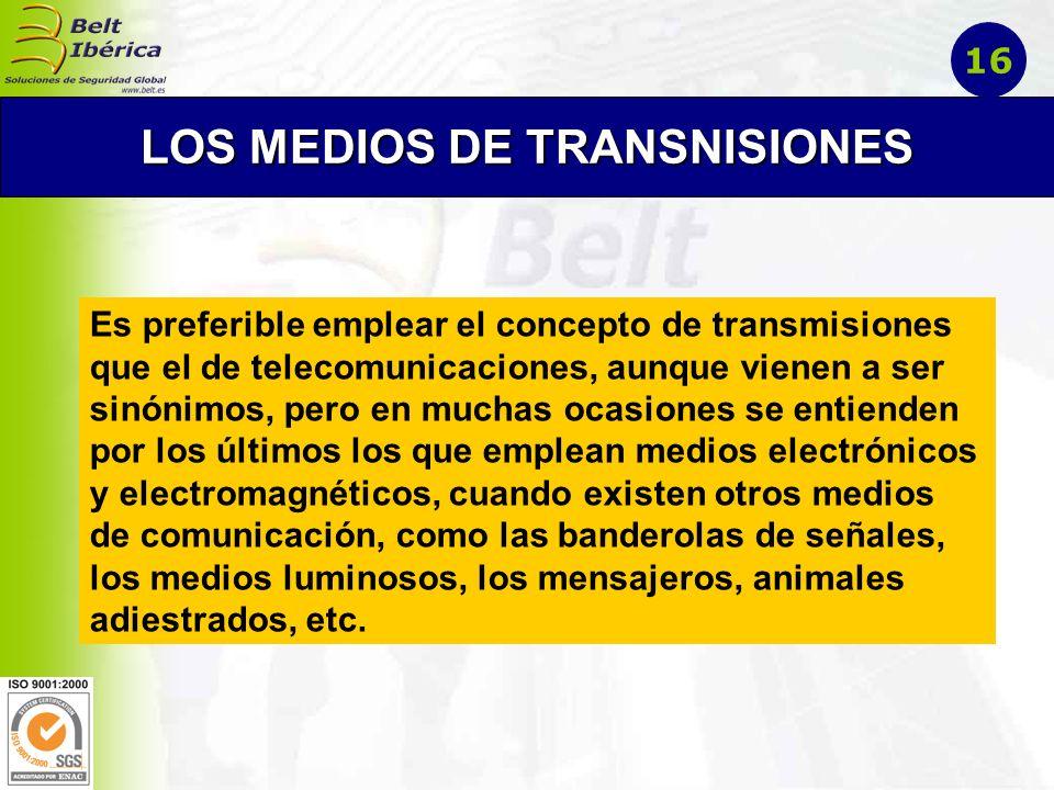 LOS MEDIOS DE TRANSNISIONES