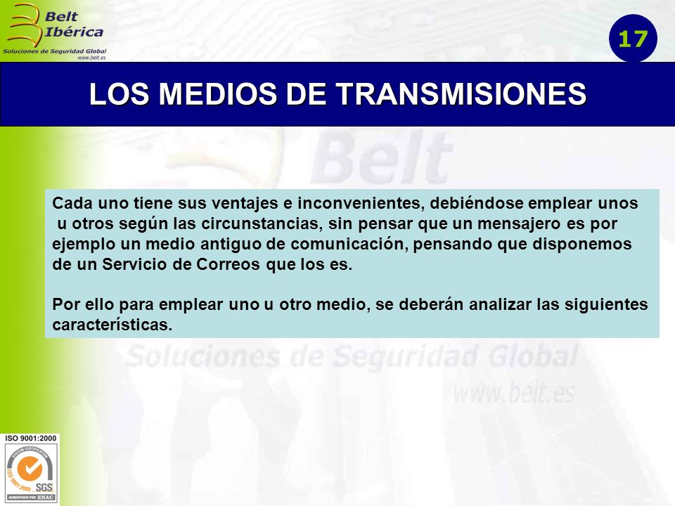 LOS MEDIOS DE TRANSMISIONES
