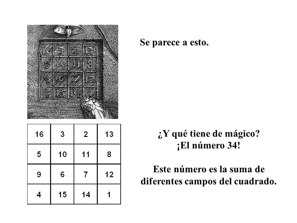 Este número es la suma de diferentes campos del cuadrado.