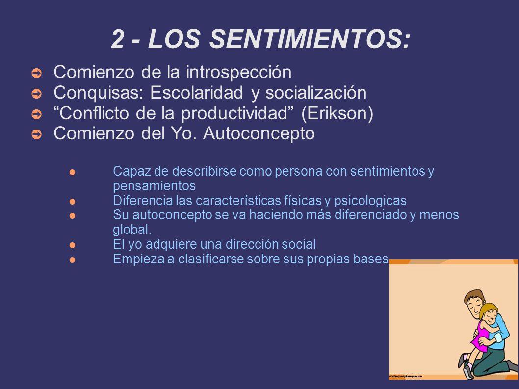 2 - LOS SENTIMIENTOS: Comienzo de la introspección