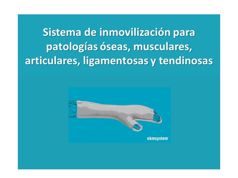Sistema de inmovilización para patologías óseas, musculares, articulares, ligamentosas y tendinosas