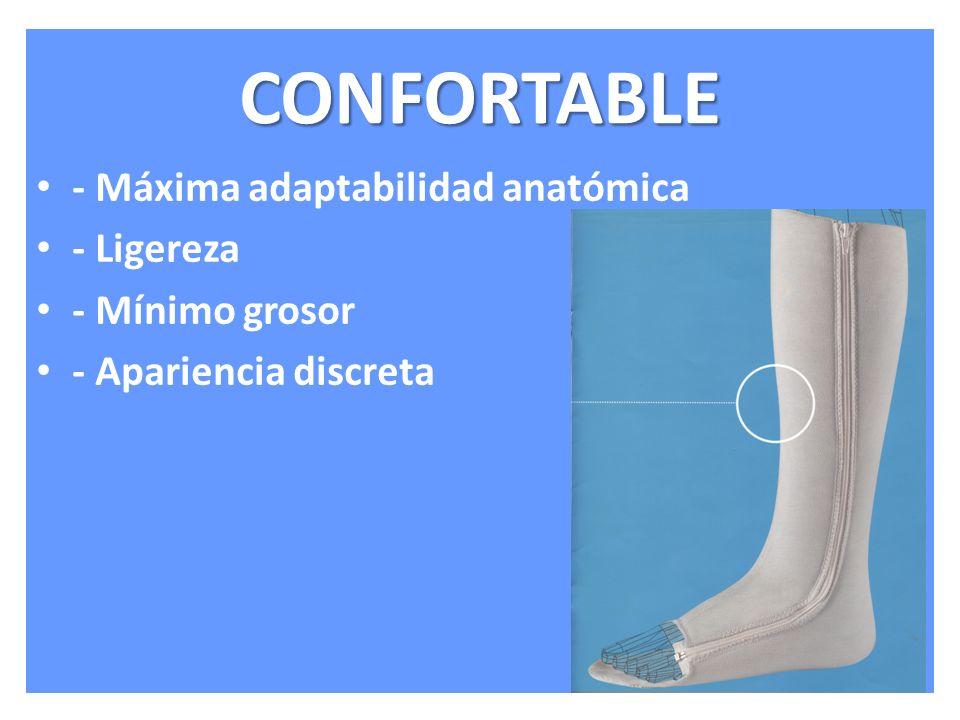 CONFORTABLE - Máxima adaptabilidad anatómica - Ligereza