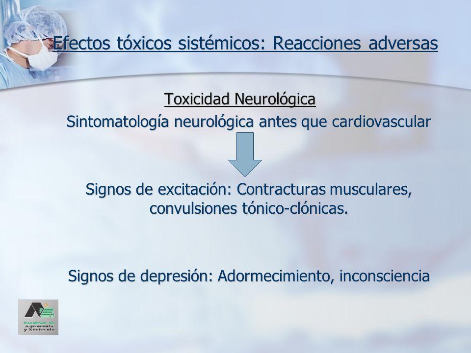 Efectos tóxicos sistémicos: Reacciones adversas