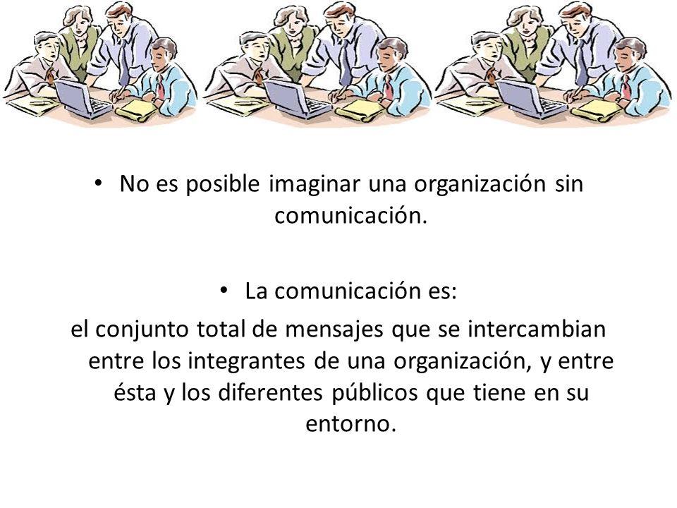 No es posible imaginar una organización sin comunicación.