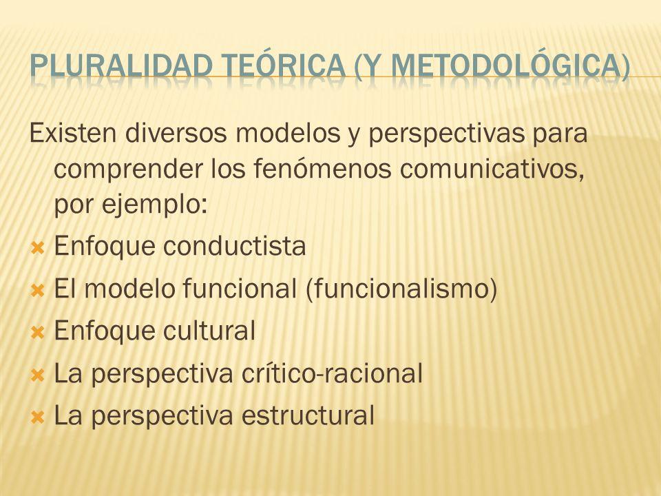Pluralidad Teórica (y metodológica)