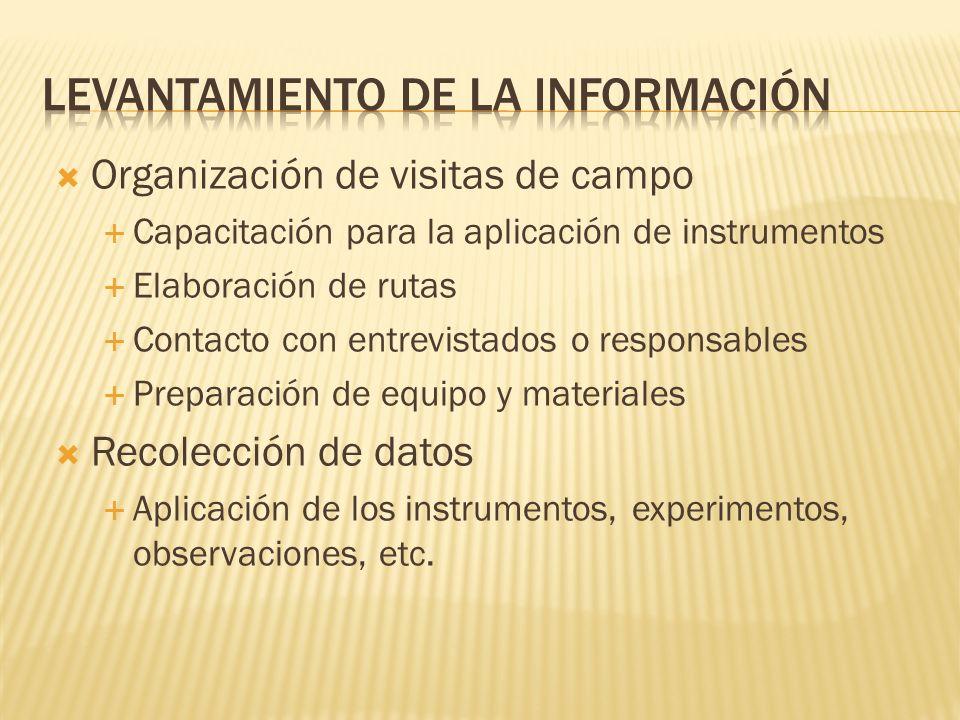 Levantamiento de la información