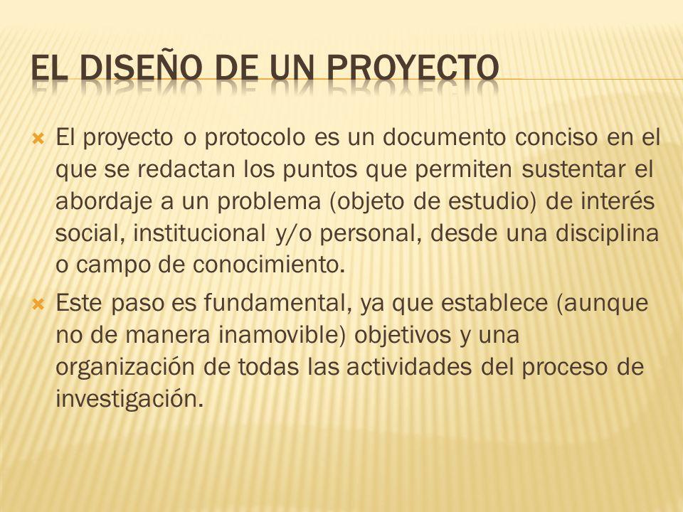 El diseño de un Proyecto