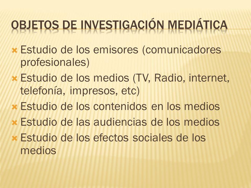 Objetos de investigación mediática