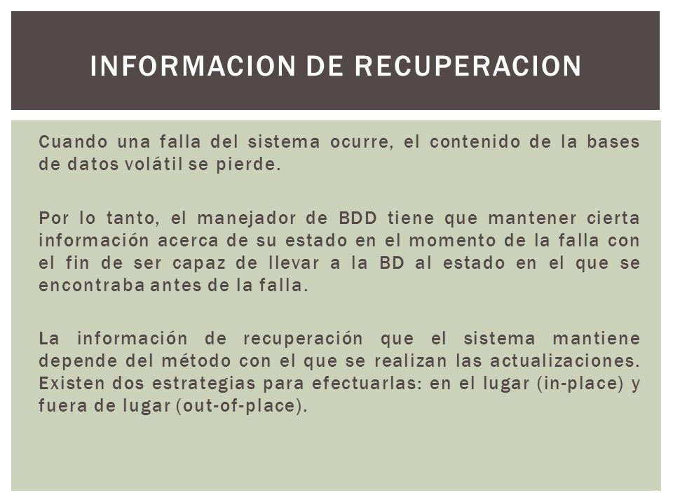 Informacion de recuperacion