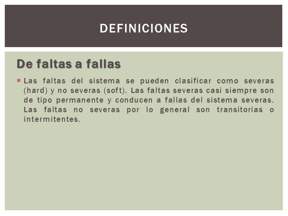 Definiciones De faltas a fallas