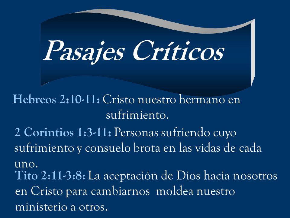 Pasajes Críticos Hebreos 2:10-11: Cristo nuestro hermano en