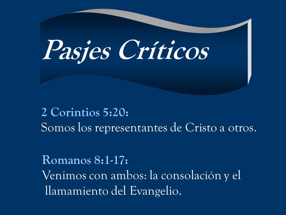 Pasjes Críticos 2 Corintios 5:20: