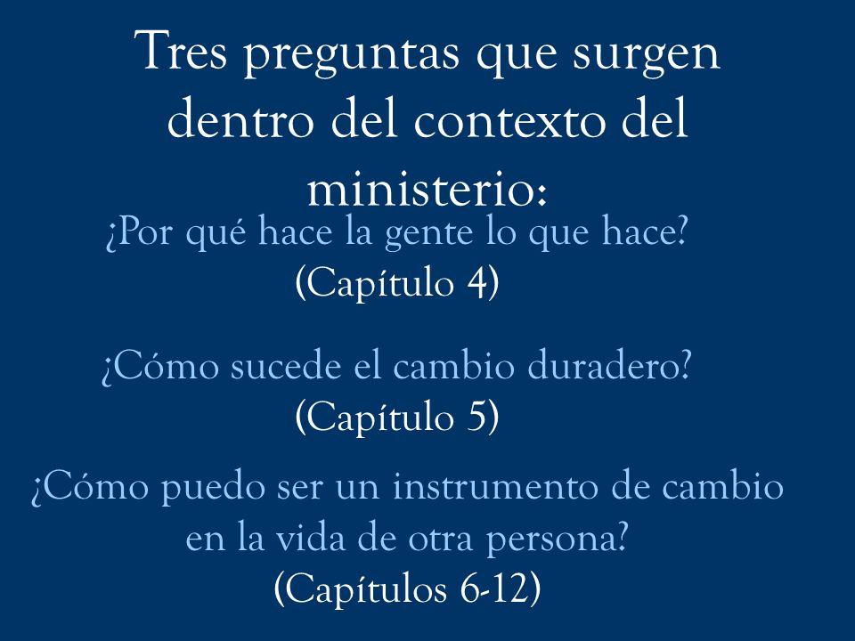 Tres preguntas que surgen dentro del contexto del ministerio: