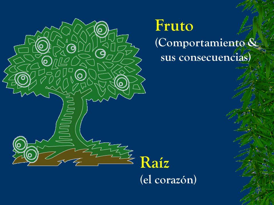 Fruto (Comportamiento & sus consecuencias) Raíz (el corazón)
