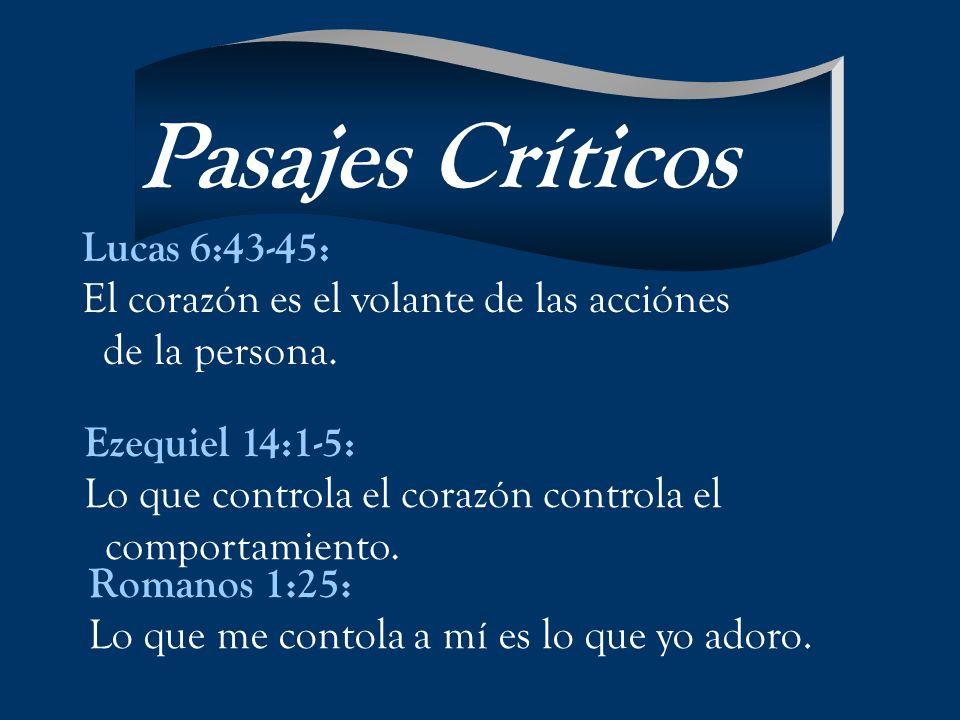 Pasajes Críticos Lucas 6:43-45: