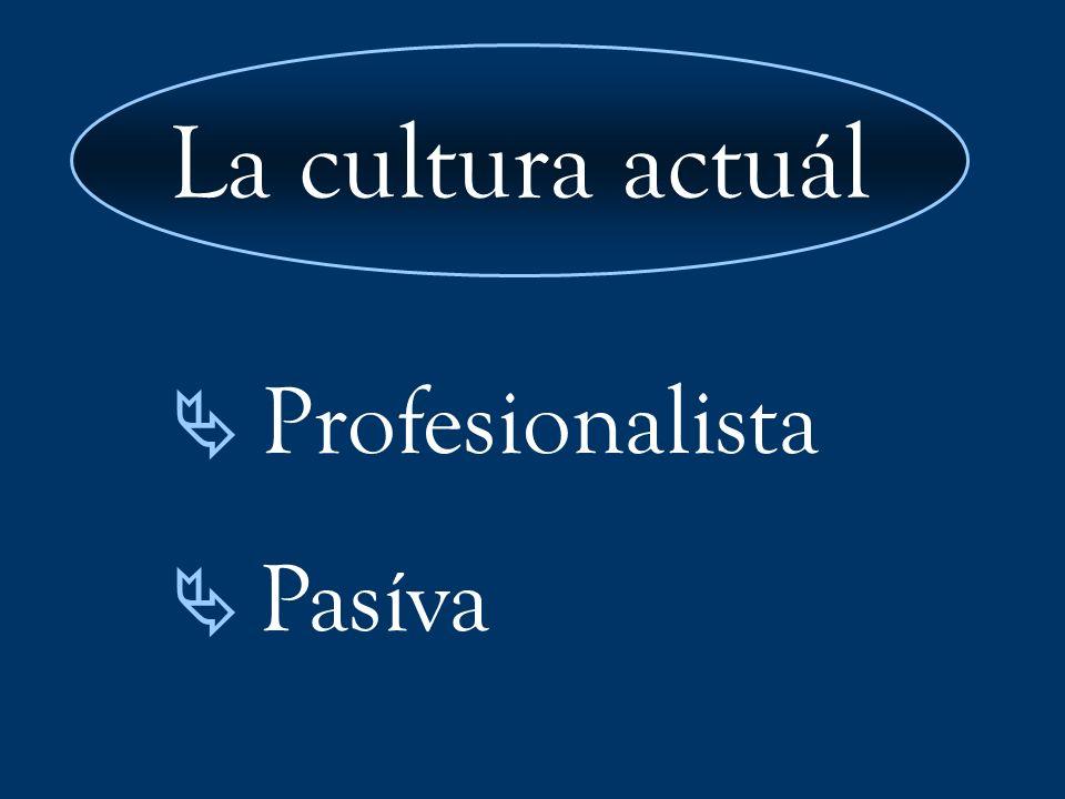 La cultura actuál  Profesionalista  Pasíva