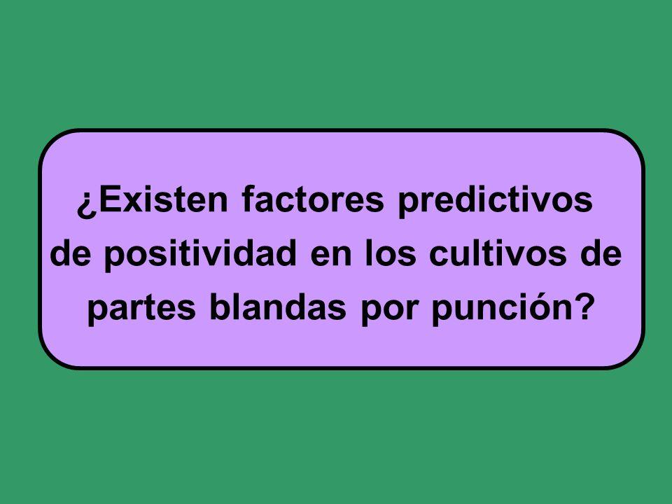 ¿Existen factores predictivos de positividad en los cultivos de