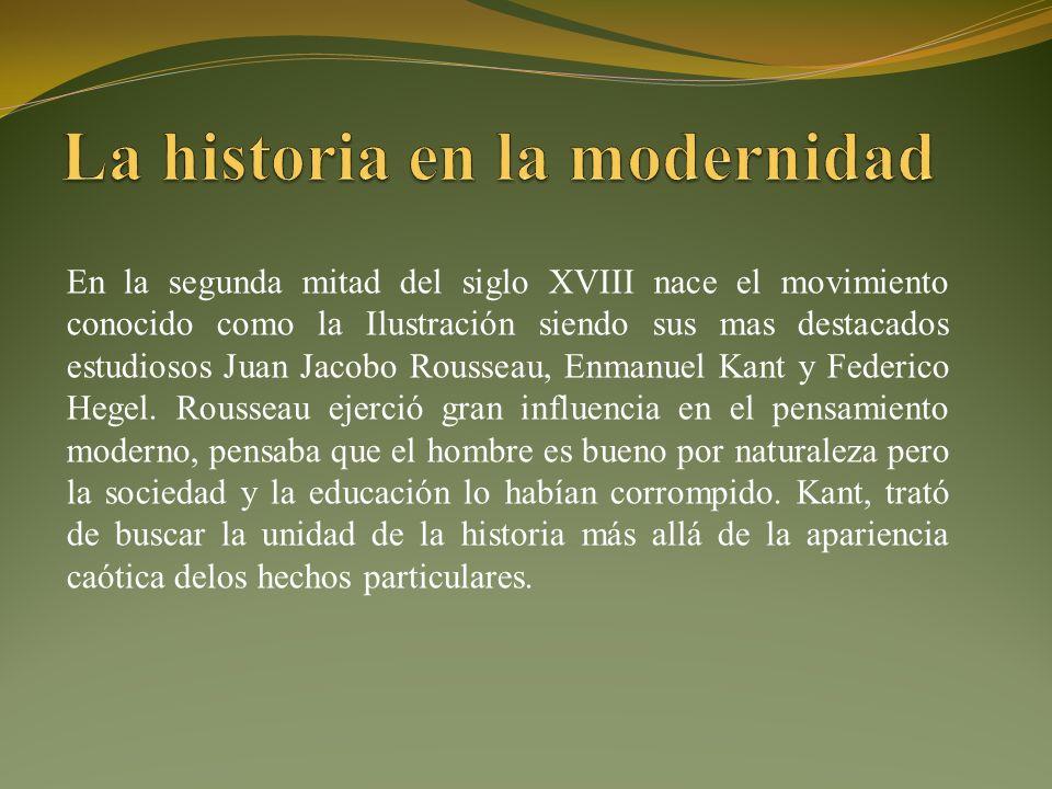 La historia en la modernidad
