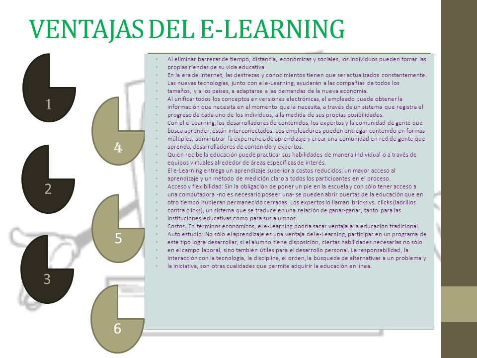 VENTAJAS DEL E-LEARNING
