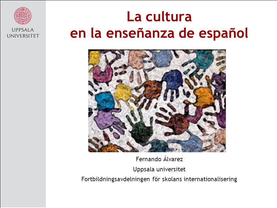 La cultura en la enseñanza de español