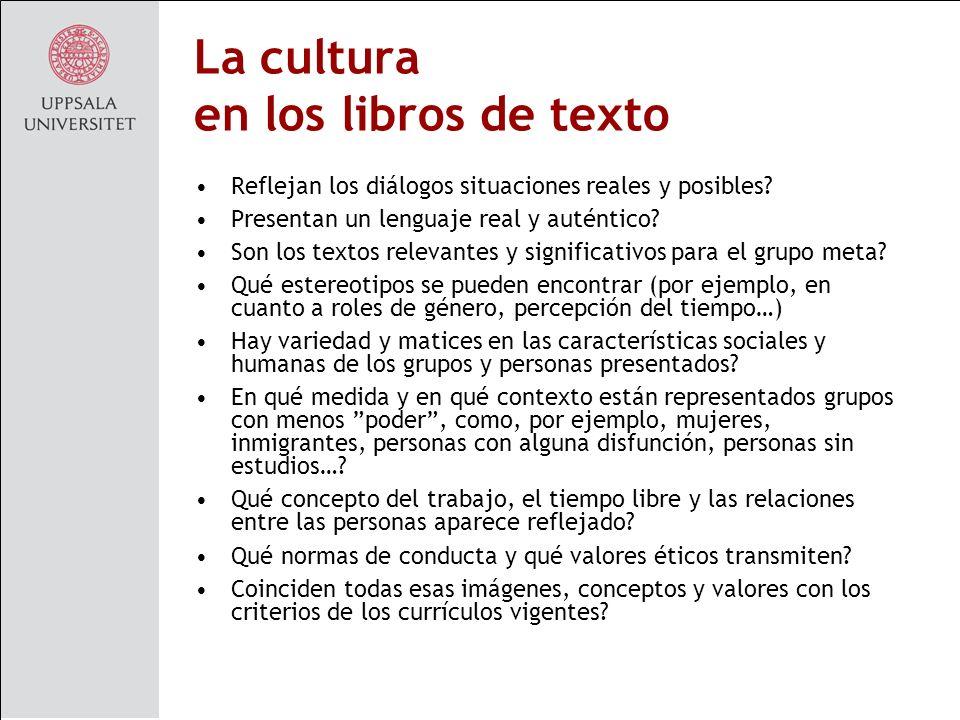 La cultura en los libros de texto